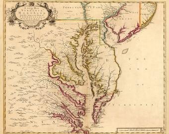 1719 Map of Chesapeake Bay