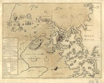 1775 Map of Boston Area