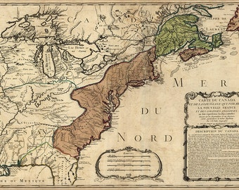 1756 Map of America