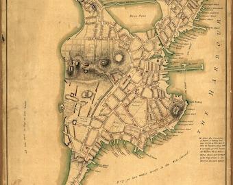 1775 Map of Boston