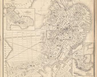 1860 Map of Boston