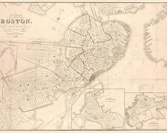 1861 Map of Boston