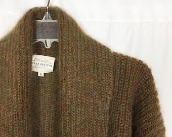 Vintage Susan Bristol 70% Mohair Open Cardigan Small 1993