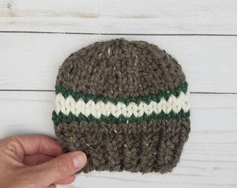 PreemieNewborn Beanie Hat in Ombre Multi colors.