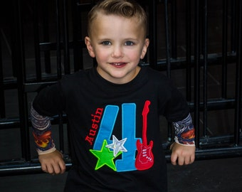 Rock Birthday Personalized Tattoo Sleeve Shirt