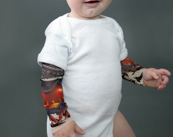 0-2 Years,SO-buts Infant Kids Baby Boys My First Christmas Xmas Long Sleeve With Tattoo Printed Sleeve Tee Tops Romper Jumpsuit Bodysuit