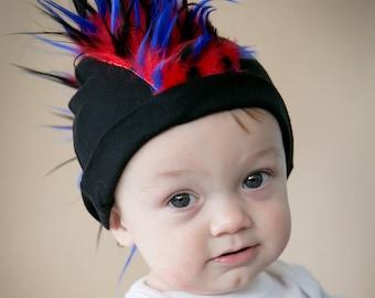 ee4e6736819 Mohawk Hat - Baby Mohawk - Fur Mohawk - Baby Mohawk Beanie - Faux Hawk -  Punk Rock Baby - Mohawk Infant Hat - Punk Baby Boy