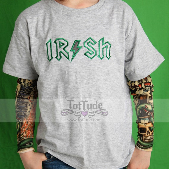 Irish St Patricks Day Tattoo Sleeve Shirt