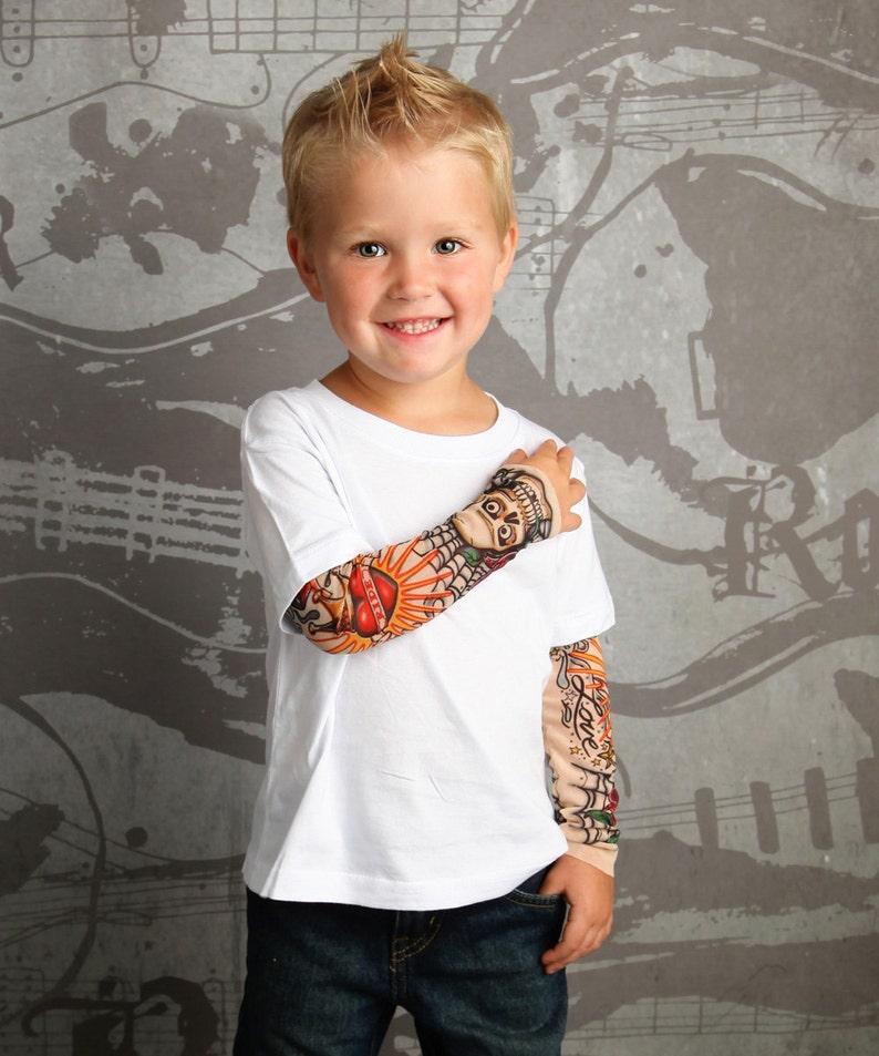 Tattoo sleeve Baby tattoo Fake tattoo Fun boys clothes | Etsy