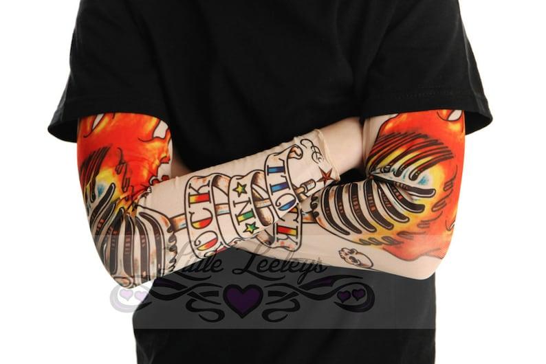 Tatuaż Rękawem Rock And Roll Shirt Dla Chłopców I Dziewcząt