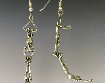 Trapeze Frog Earrings