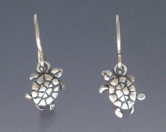 Tiny Turtle Earrings