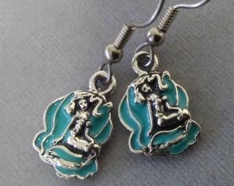 Light Blue Mermaid Earrings
