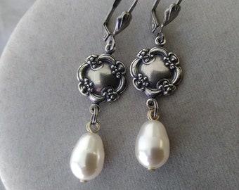 Leverback Bridesmaid Earrings, set of Five Pairs