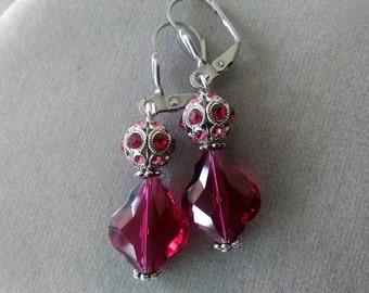 Swarovski Crystal Baroque Filigree Leverback Earrings
