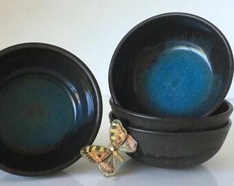 Vintage Glazed Stoneware Bowls Set of 4 N. Morris