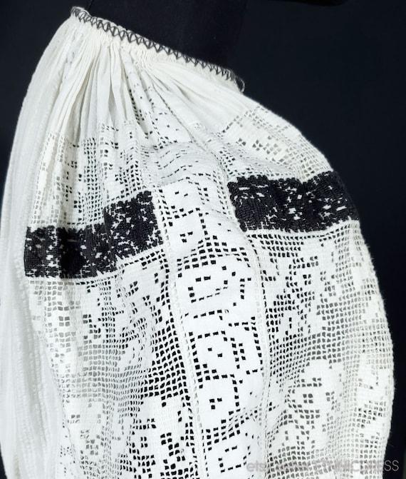Vintage Croatian-Hungarian folk costume blouse fr… - image 4