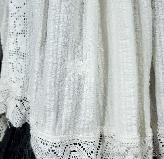 Vintage Croatian-Hungarian folk costume blouse fr… - image 8