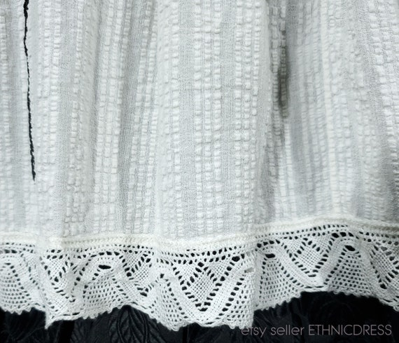 Vintage Croatian-Hungarian folk costume blouse fr… - image 7