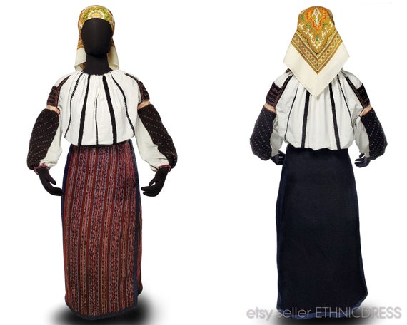 Vintage Hungarian Csango folk costume from Romani… - image 1