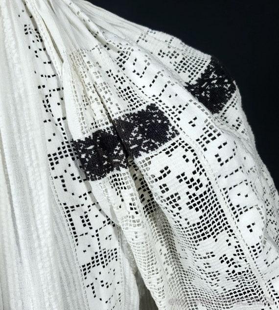 Vintage Croatian-Hungarian folk costume blouse fr… - image 5