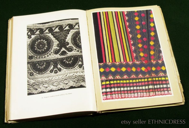 ethnic design regional style old photos of village fashion BOOK Polish Folk Embroidery from Traditional Costumes Poland peasant craft