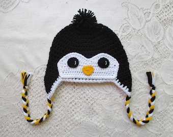 71c10e1049b White Full Face Crochet Penguin Hat - Winter Hat - Photo Prop - Animal Hat  - Crochet Hat - Available in Any Size or Color