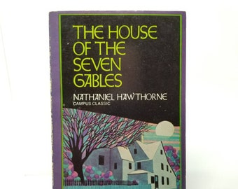 The House of the Seven Gables by Nathaniel Hawthorne vintage paperback novel literature fiction 1973 edition classic