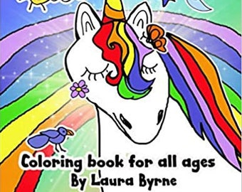 Coloring Book For All Ages Digital Download  /The Messages From Your Animal Friends ,Children and Adult Coloring Pages