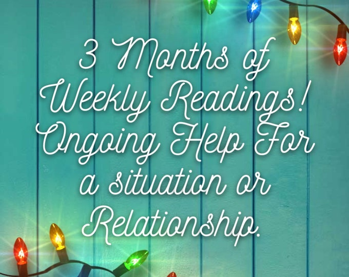 Featured listing image: 3 Months of Weekly Readings 30 Min Voice Recording,   Angels, Spirit Guides, Love Reading