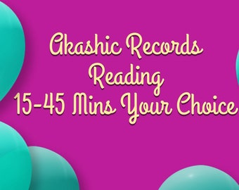 Akashic Records- Your soul History and Journey 15-45 Min Voice Recording Your Choice