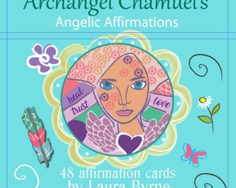 Higher Self Affirmation Deck with Archangel Chamuel, 48 Card Deck,  Angel Reading, Psychic Reading, Reiki