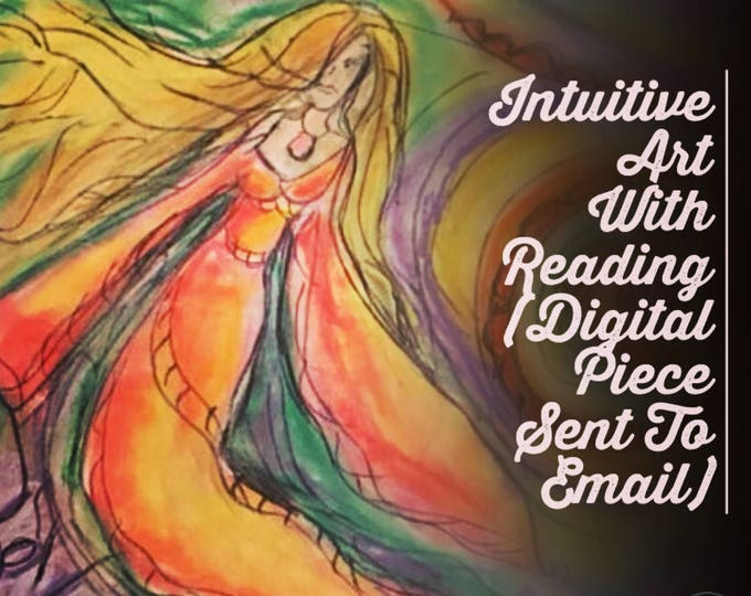 Intuitive Art With Reading -Drawing of what I see with 15 Min Reading, Voice Recorded,  Spirit Guides, Angels, Water Color, Charcoal, Pencil