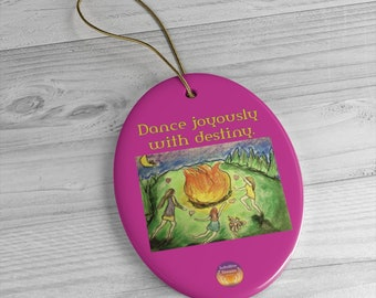 Dance with Destiny Ceramic Ornament