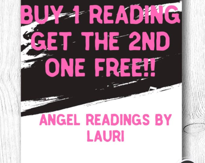 Special!!  Buy 1 Reading Get The 2nd Free  20 Min Voice Recording
