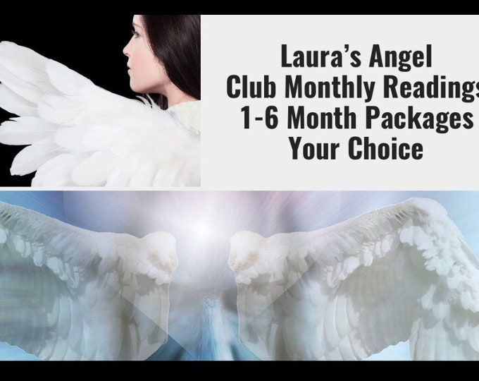 Featured listing image: Laura's Angel Club Monthly Readings Choose 1-6 Month Reading Packages, VIPs Get 60 Mins!!    Angels, Guides, Tarot, Psychic Medium