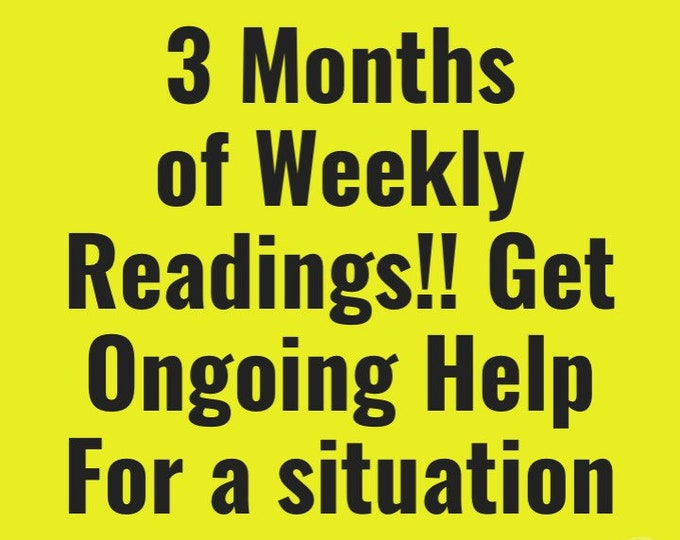 3 Months of Weekly Readings 30 Min Voice Recording