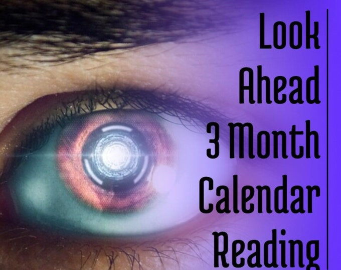 Featured listing image: 3 Month Look Ahead Calendar Reading 15 Minutes Voice Recording,  Love, Relationship, Angels, Guides, Career, Psychic Reading
