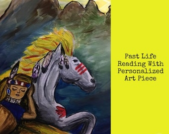 Past Life Reading with Personalized Painting or Colored Charcoal Drawing of a Scene From the Reading. Includes 40 min Voice Recording