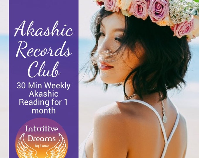 Featured listing image: Akashic Records 30 Min Weekly Reading Club,   Angel reading, love Reading, career reading, Past Life Reading