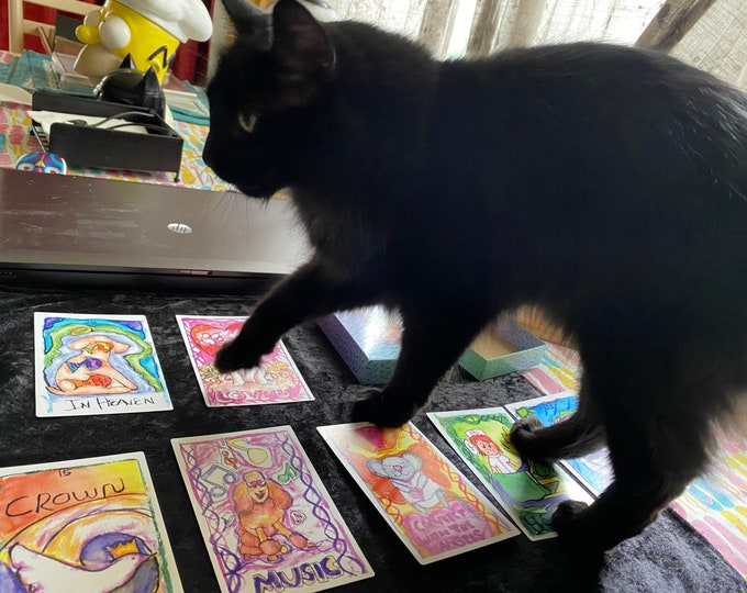 Pet Psychic Oracle Deck- Messages From Your Animal Friends,  Pet Reading, Pet Psychic, Pets, Tarot Deck, Oracle cards, Angel Oracle Cards