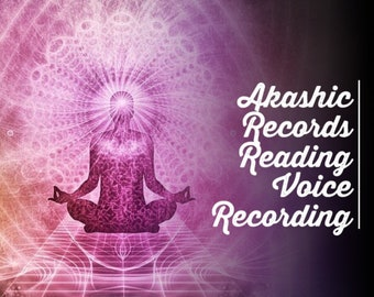 Angelic Akashic Records- Your soul History and Journey 15-45 Min Voice Recording Your Choice