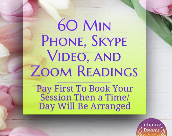 60 Minute Skype Video, Phone, or Zoom Reading, psychic, Angels, spirit guides, love, relationship, career, future, past life, Akashic Record