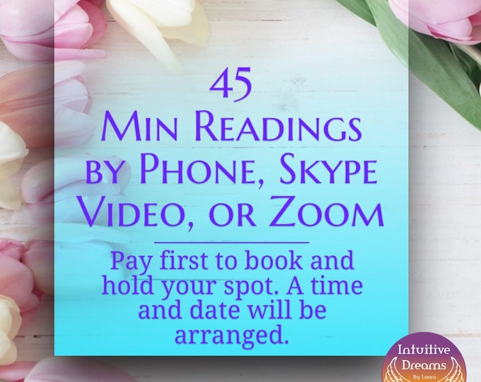 45 Minute Readings by Phone, Skype Video, or Zoom. Get a Recording of the Session.  Angel Reading, Tarot, Psychic Medium