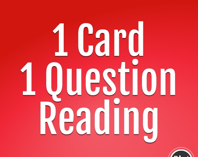 1Card/ 1 Question Short Reading Voice Recording, Psychic, Angel Reading, Intuitive Reading, Relationship Reading, Career Reading