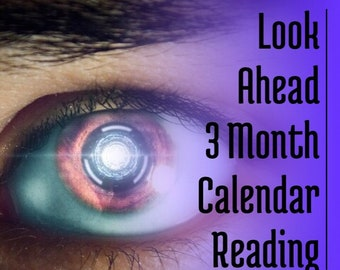 3 Month Look Ahead Calendar Reading 15 Minutes Voice Recording,  Love, Relationship, Angels, Guides, Career, Psychic Reading