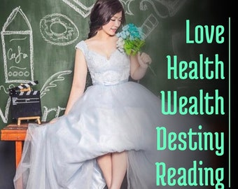 Love-Health-Wealth-Destiny Reading 30-45 Min Voice Recording,   Psychic Reading, Relationship reading, Angel Reading