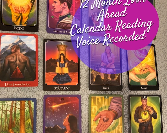12 Month Look Ahead Calendar Reading 45 Min Voice Recording,   Angels, Guides, Future Reading