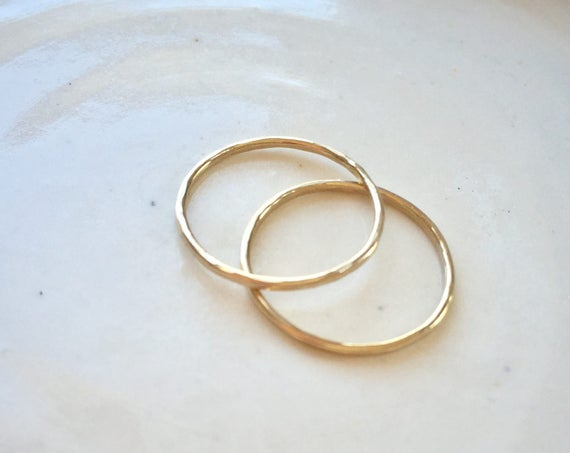 Thin gold Ring,  14k gold fill