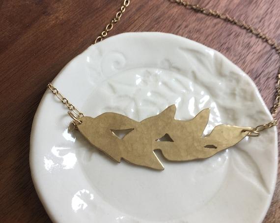 Brass Botanical Necklace
